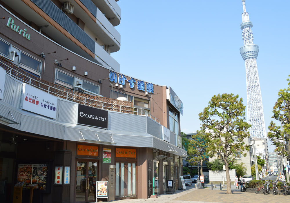 It is within walking distance of Azumabashi branch appearance - Skytree