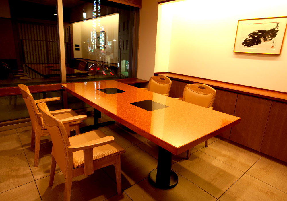The Ginza 8 chome branch introspectiveness - window side chair seat private room