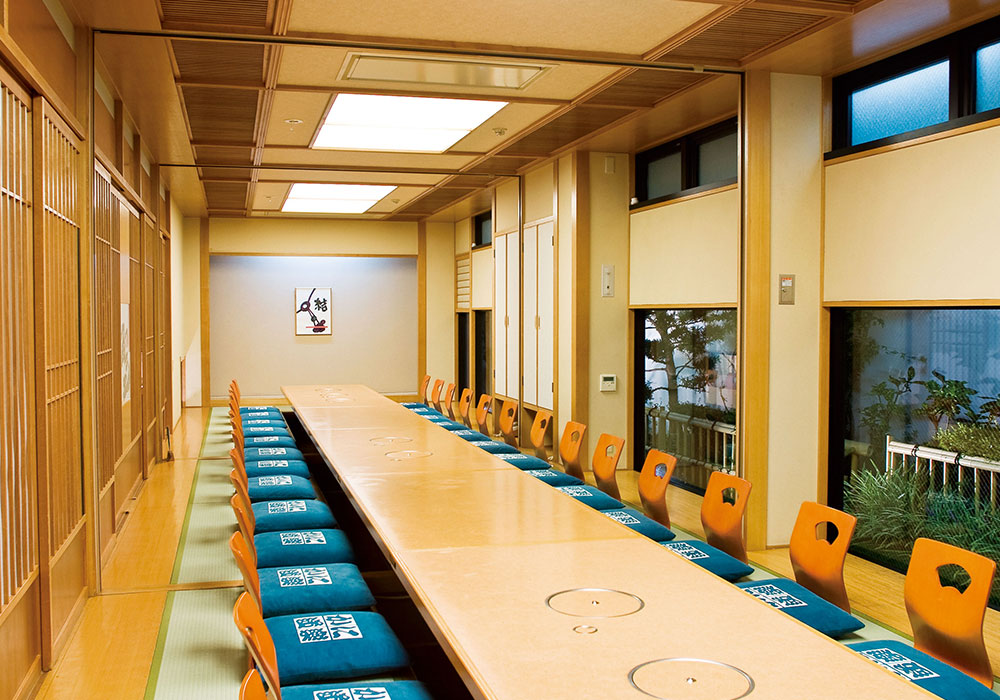 Large hall (dig seat) which is storable to Ibaraki branch introspectiveness -34 people