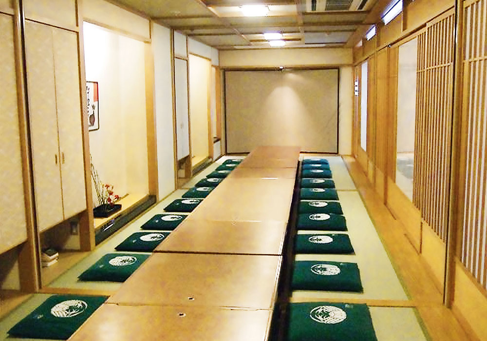 To Juso branch introspectiveness -30 people large hall (dig seat) of the accommodation