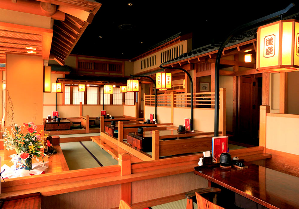 Gion seat of Shinjuku Honten (Main restaurant in Kanto area) introspectiveness - sukiya style on the seventh floor