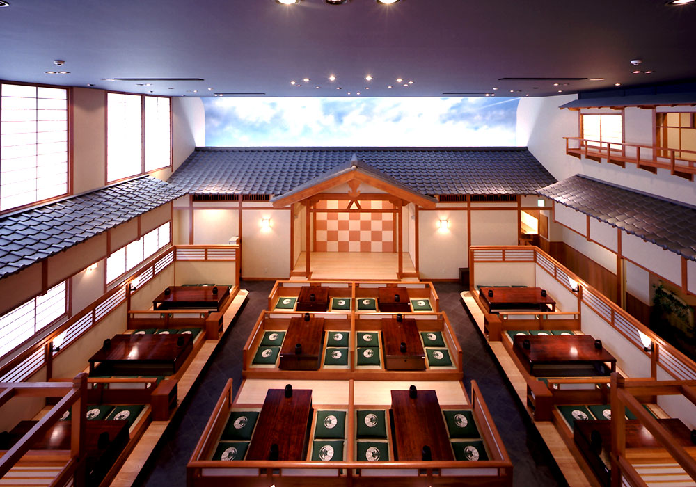 Extensive 本陣 seat of Yokohama branch introspectiveness - colonnade on the first floor