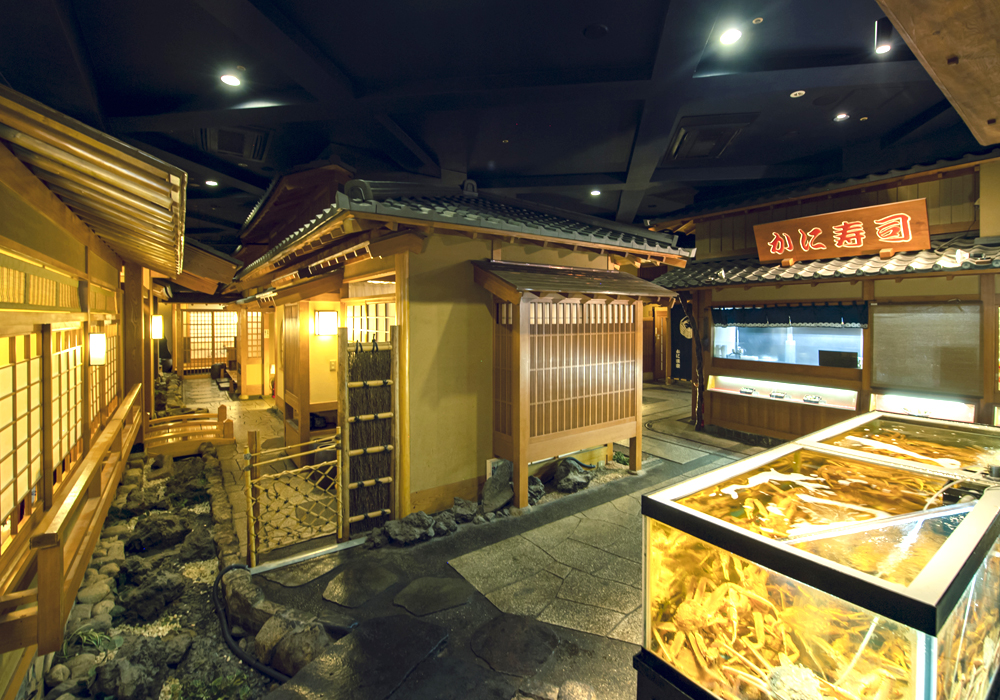 The seventh-floor floor with cityscape of Shinjuku Honten (Main restaurant in Kanto area) introspectiveness - Kyoto as motif